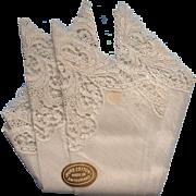 Vintage Lace Hankie Unused Switzerland Wedding Original Label