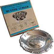 Butter Curler Dish Vintage English Silver Plated Original Box Tea Table