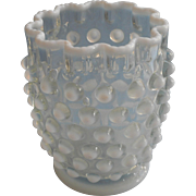 Antique Spooner Northwood French Opalescent Hobnail Glass