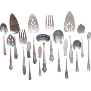 Vintage Serving Pieces Flatware Silver Plated 15 All Different Patterns