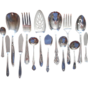 Vintage Serving Pieces Flatware Silver Plated 14 All Different Patterns
