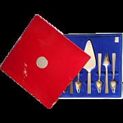 Mod Italian Vintage Stainless Steel Dessert Flatware Set Server Forks Sporks