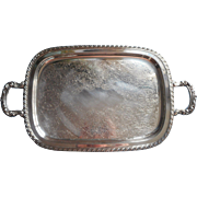 Vintage Tray Handles Tea Set Serving Silver Plated Oneida