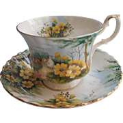Royal Albert Primrose Hill Cup Saucer Vintage Bone China Country Scenes Series