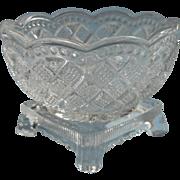 Master Salt Dish Antique EAPG Pressed Glass Footed