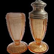 1920s Henna Color Glass Salt  Shaker