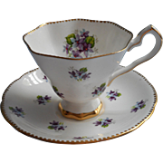Royal Stafford Sweet Violets Cup Saucer English Bone China Vintage