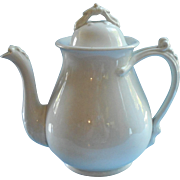 Victorian Ironstone Teapot Coffee Pot Antique Maddock All White China
