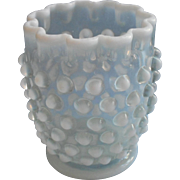 Antique Opalescent Hobnail Spooner Northwood Glass Use As Vase