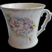 Antique China Mug Cup Purple Flowers Sweet Feminine