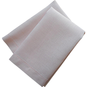 Ice Pink Linen Guest Towels Vintage Pair Simple