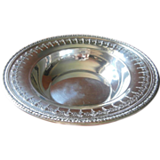Silver Bowl Serving Vintage Reed Barton 1920s to 1930s