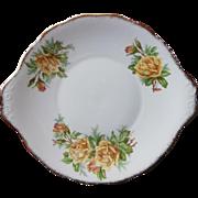 Royal Albert Yellow Tea Rose Dessert Cake Serving Plate Bone China Vintage
