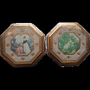 Florentine Plaques Wood Gesso Decoupage Gold Vintage Italy 1960