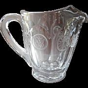 Fostoria Coin Glass Pitcher Vintage