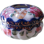 Nippon Vanity Jar Hair Receiver Vintage Hand Painted China