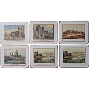 English Coasters Pimpernel Landmarks London Scenes Vintage Set 6