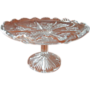 Torte Stand EAPG Canadian Thistle Higbee Small Pedestal Compote