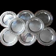 Silver Bread Plates Vintage Set 8 Oneida