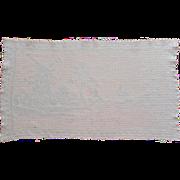Filet Crocheted Lace Tray Cloth Vintage 1920s Windmills Dutch Scene
