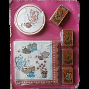 Coffee Klatsch Paper Party Set Vintage Matchboxes Coasters Napkins