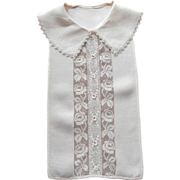 1920s Dickey Collar Vintage Irish and Net Lace Viscose Linen