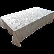 SOLD Lace Tablecloth Quaker Style Vintage TLC