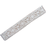 SOLD Lace Collar Armistice Period Antique Net Filet Strip Style
