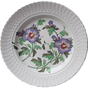 Cauldon Chop Platter Hand Painted Hibiscus 1920s China Not the Later