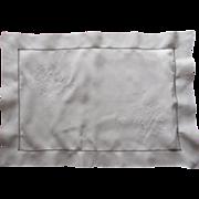 Italian Cutwork Pillow Sham Vintage Linen c1920 Hand Embroidery