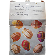 Honeycomb Hallmark Easter Egg Decorations Vintage Paper Set