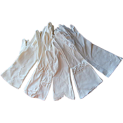 Gloves Vintage Three Quarter Length All Embellished White