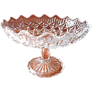 Compote Pressed Glass Vintage 1950s Cookies Candy Fruit