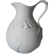 Parian Bisque Pitcher Vintage MMA Jonquil
