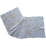 Silk Embroidery Antique Runner Hand Embroidery TLC