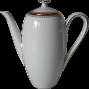 Demitasse Coffee Pot Elegant Vintage Bavaria Winterling White Gold Wine