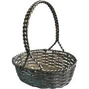 French Wire Basket Silver Vintage Favor