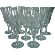 Footed Juice Stemware Glasses Vintage Wine Engraved Versatile Size Shape