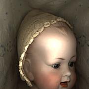 Antique Lace Crochet Baby Bonnet