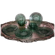 SALE Depression Glass Doric and Pansy Pretty Polly Party Dishes
