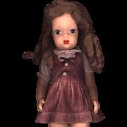 SALE Vintage  Factory Made Corduroy Doll Dress