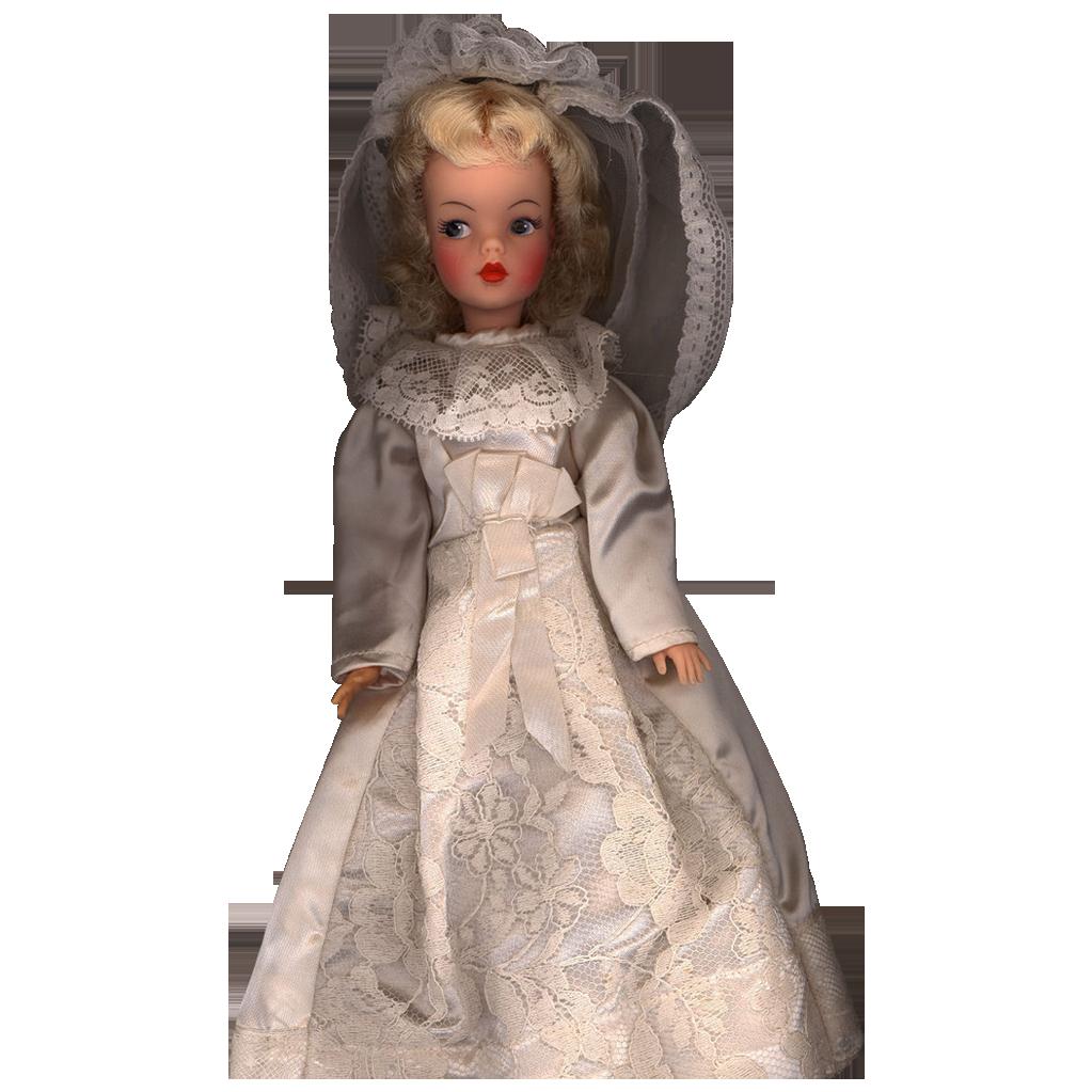 Vintage Satin Wedding Dress And Veil From Micheledolls On