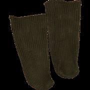 SALE Antique Net Knit Doll Stockings