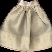 SOLD Antique Cream Wool Doll Slip