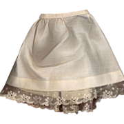 SOLD Antique Cotton Doll slip with Lace Trim