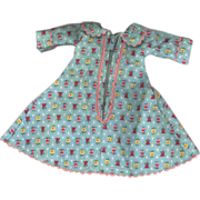 SOLD Vintage Ginny Fashion  P.M. Blue Flowered Robe #71 with Talon Zipper