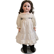 SOLD Antique White Cotton Doll Dress with Slip