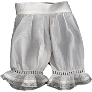 SOLD Antique White Cotton Doll Pantaloons