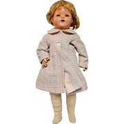 SOLD Vintage Pink and Gray Doll Coat