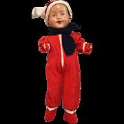 SALE Composition Boy in Fleece Snowsuit